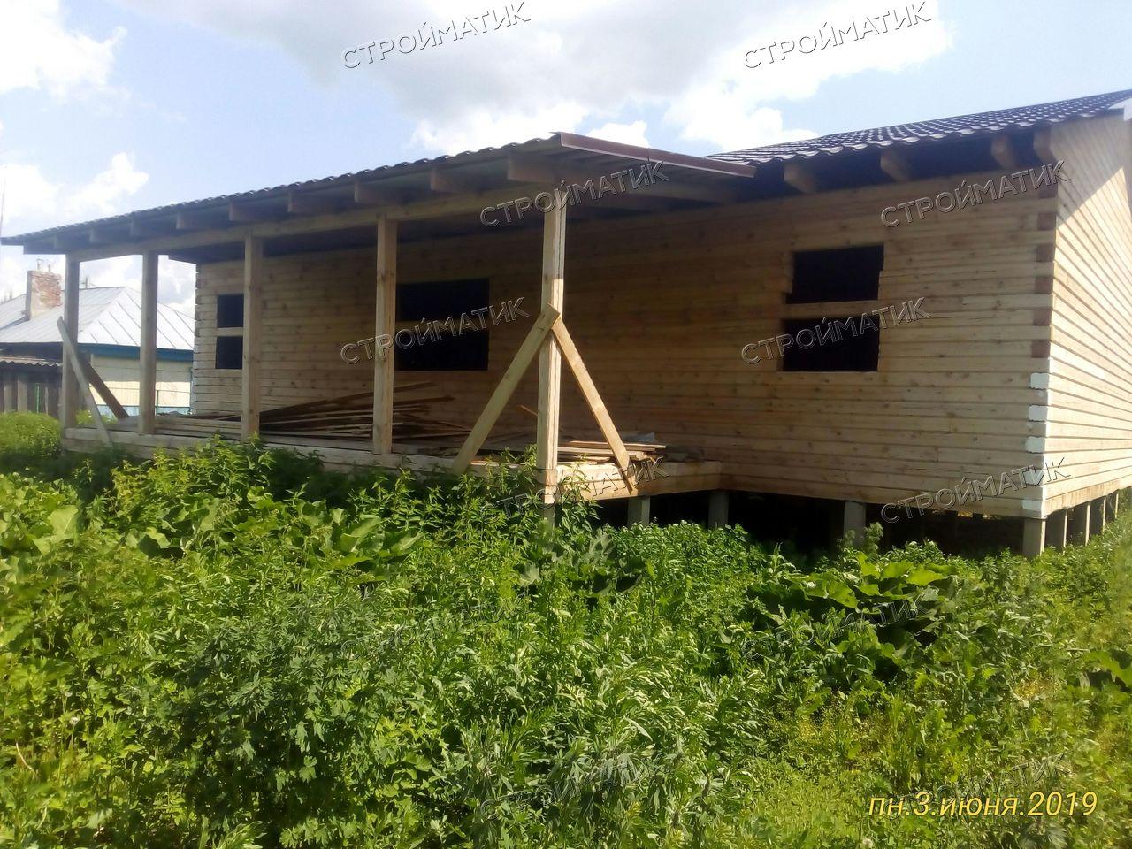 Фундамент на забивных ж/б сваях для дома из бруса в селе Дубовое, город Чаплыгин Липецкой области