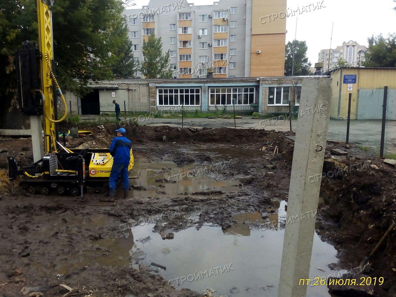 Свайный фундамент кирпичного строения в Липецке