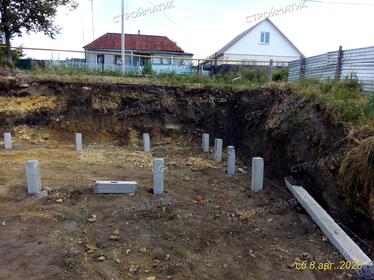 Фундамент на забивных железобетнных сваяхподкирпичный дом вг. Грязи