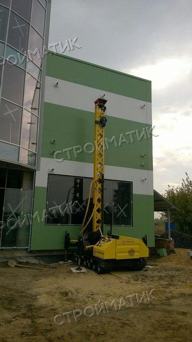 Фундамент на ж/б сваях входной группы ТЦ в Воронеже от компании Стройматик