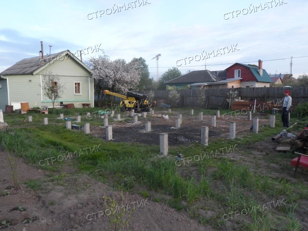 Фундамент для дома на забивных ж/б сваях в Ярославле от компании Стройматик