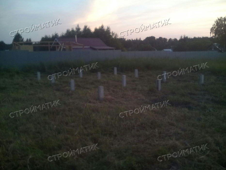 Фундамент для бани на ж/б сваях в Московской области, Егорьевский район поселок Шувое от компании Стройматик