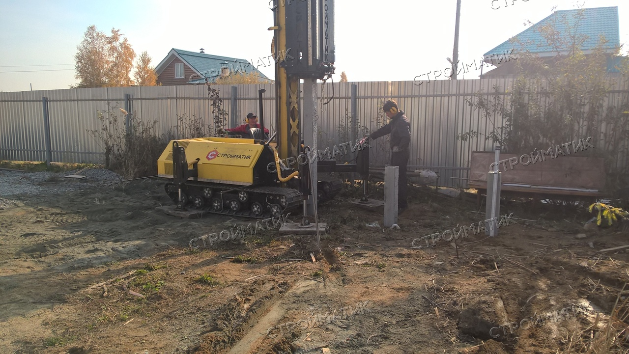 Фундамент на забивных ж/б сваях для дома из бруса в СНТ Луч, Челябинск от компании Стройматик