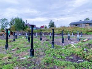 Фундамент на забивных железобетонных сваяхпод каркасный дом вКарелии