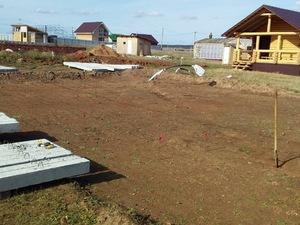 Фундамент для дома из бруса в деревне Лудорвай