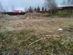 Фундамент для бревенчатого дома в деревне Порошкино