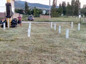 Фундамент для маленького дома из бруса в селе Заречное