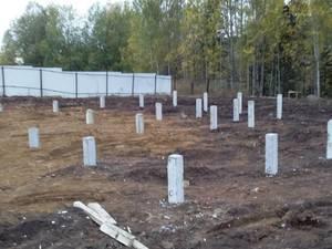 Фундамент для двухэтажного каркасного дома в деревне Макарово