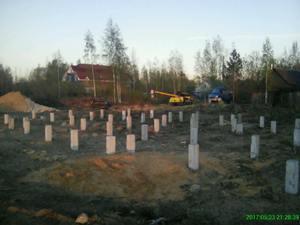 Фундамент для кирпичного дома в посёлке Стрельна