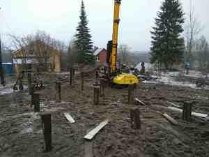 Фундамент для кирпичного дома в г/п Сосновское