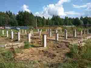 Фундамент для дома из бревна в деревне Дятлово