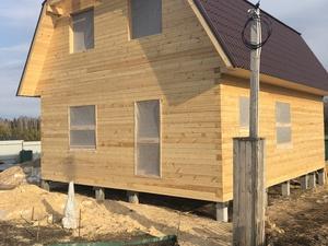 Фундамент для двухэтажного дома из профилированного бруса вс. Полянка