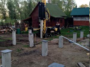Фундамент для бревенчатого дома поселок Мичуринский, Новосибирский район