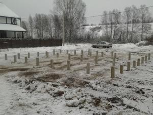 Фундамент для каркасного дома в деревне Копнинское