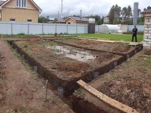 Фундамент для дома из пеноблоков в селе Кстинино