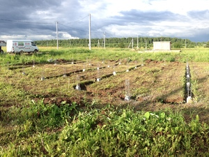 Фундамент для дома из пеноблоков в деревне Столбово