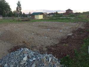 Фундамент для дома из пеноблоков в деревне Бабичи