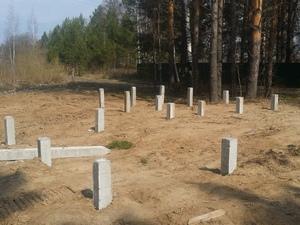 Фундамент для дома и бани из пеноблока в СНТ Ветеран 3
