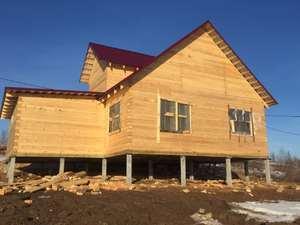 Фундамент для дома из профилированного бруса в деревне Карабиха