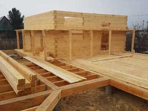 Фундамент для дома и бани из бруса в посёлке Нижний склад