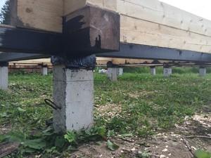 Фундамент для дома из бруса под Вологдой