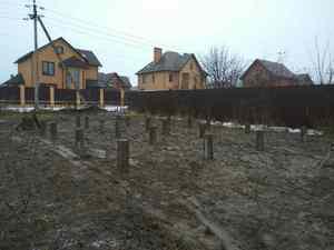 Фундамент для дома и бани из бруса в деревне Жарково