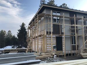 Фундамент для двухэтажного каркасного дома с гаражом, баней итеррасой