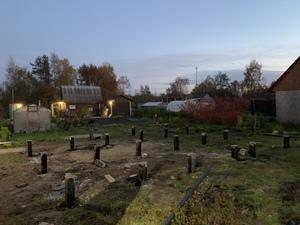 Фундамент на забивных жб сваях в д.Тулгуба (Карелия)