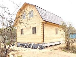 Фундамент с висячим ростверком для дома из бруса в Твери