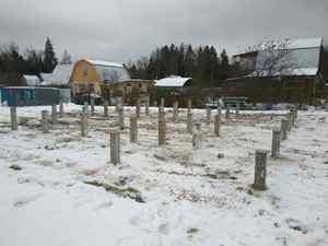 Фундамент для дома из бруса в деревне Хлопенево