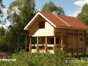 Фундамент для бани из бруса в деревне Тверской области