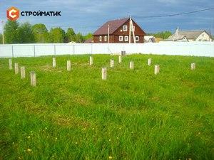 Фундамент для дома из бревна в деревне Тверской области