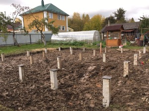 Фундамент для дома из бруса в Иваново