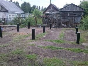 Фундамент для бани из бруса посёлке Лучевое 2