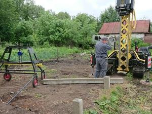 Фундамент для каркасного дачного домика в городе Мичуринск