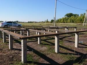 Фундамент для дома из бревна в селе Казинка