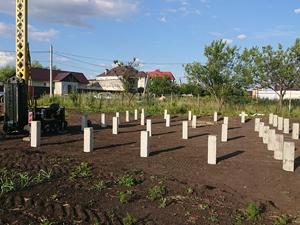 Фундамент для быстровозводимых сооружений в поселке Аэропорт-2