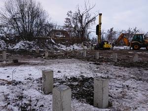 Фундамент под промышленный объект с административно-бытовым комплексом в Липецке