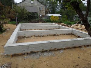 Фундамент для дома из газобетона с высоким ростверком в Твери
