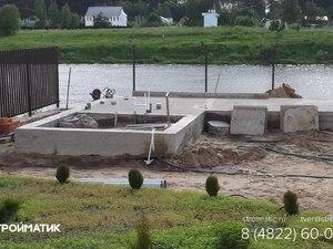 Фундамент под банный комплекс из кирпича в деревне Глазково