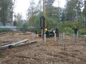 Фундамент для деревянного каркасного дома в поселке Ильинский