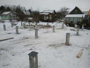 Фундамент для каркасного деревянного дома в г/п Синявинское