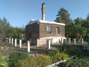 Фундамент для дома из бруса в поселке Понтонный