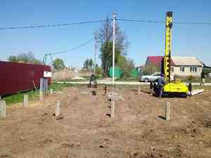Фундамент для кирпичного дома в Лебедяни
