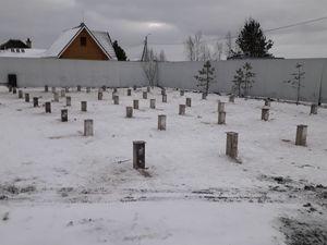 Фундамент для дома из бруса в деревне Князево