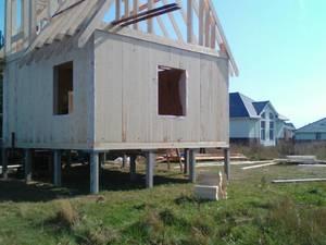 Фундамент на ж/б сваях для каркасно-щитового дома