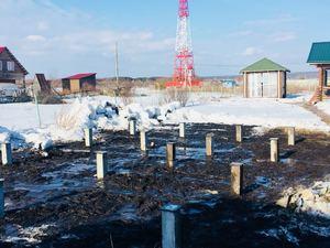Фундамент для бани из бруса в деревне Лебедевка