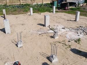 Фундамент для дома из бруса с фундаментом под печь в деревне Березкино