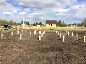 Фундамент для дома из бруса в поселке Горный Щит