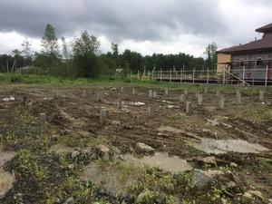 Фундамент с бетонным ростверком для дома из блоков в КП Чистые Ручьи
